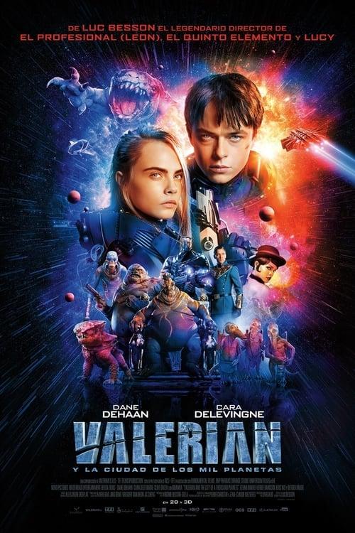 Valerian y la ciudad de los mil planetas poster