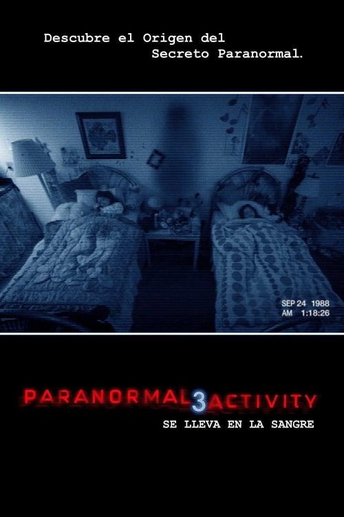 Póster película Paranormal Activity 3