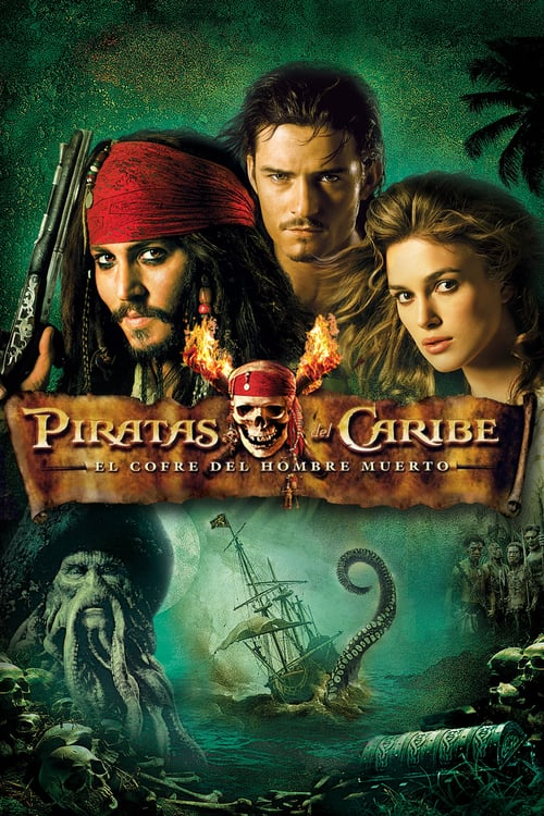 Póster película Piratas del Caribe: El cofre del hombre muerto