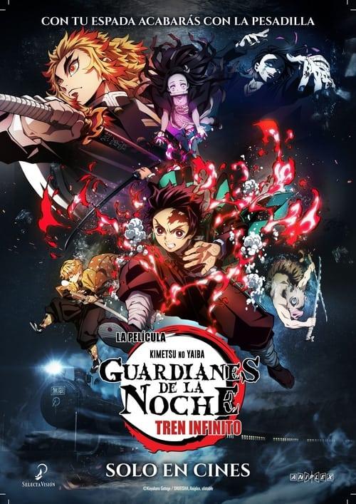 Póster película Kimetsu No Yaiba: Guardianes de la noche - Tren infinito