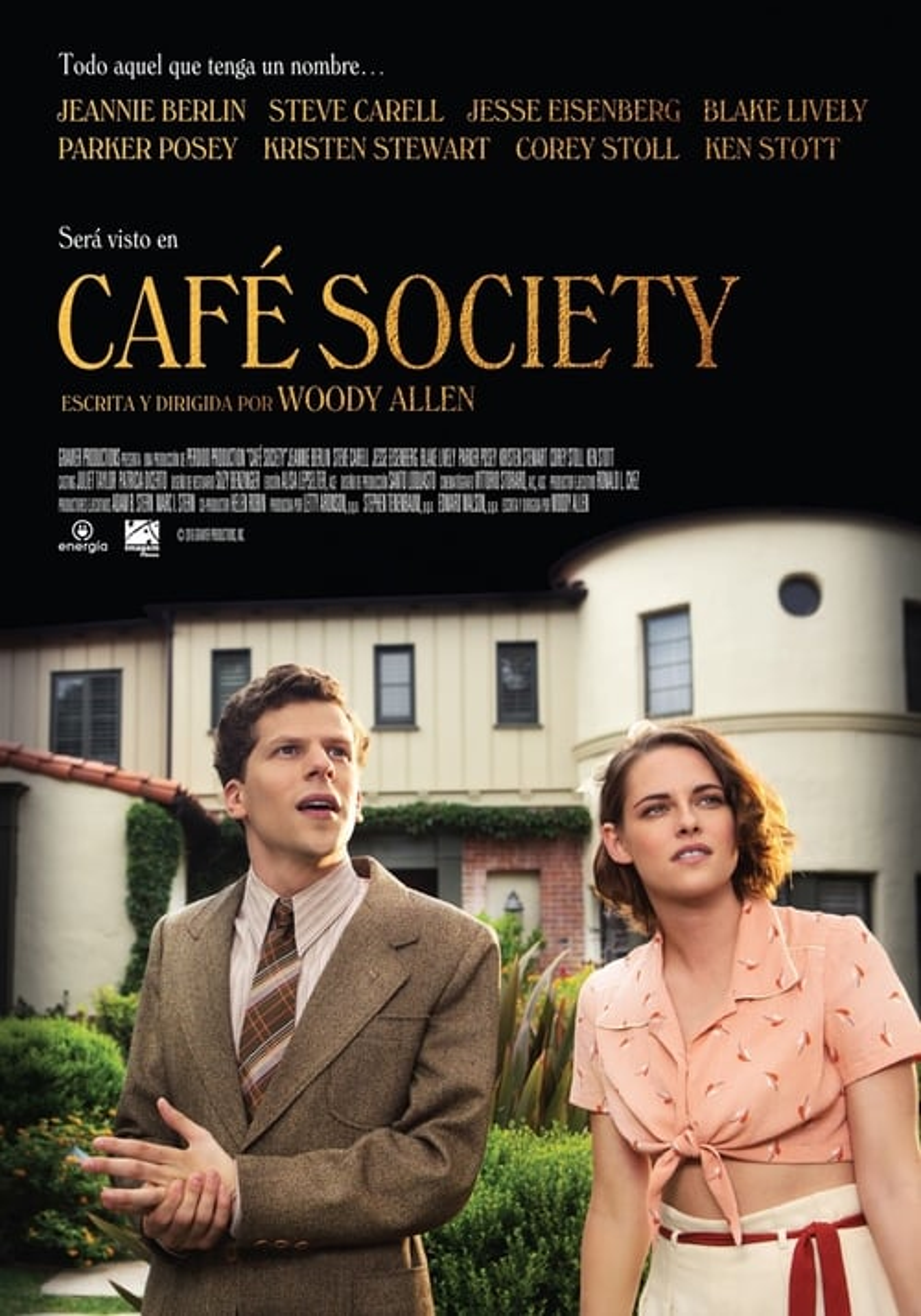 Póster película Café Society
