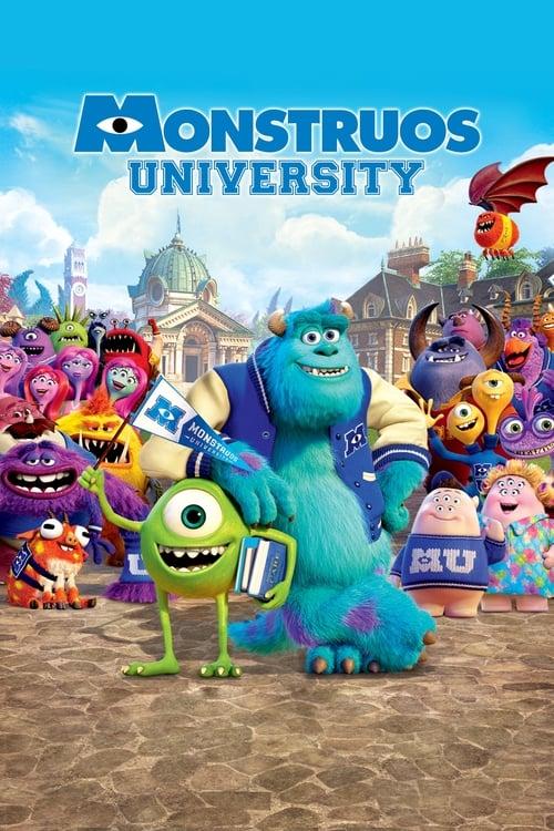 Póster película Monstruos University