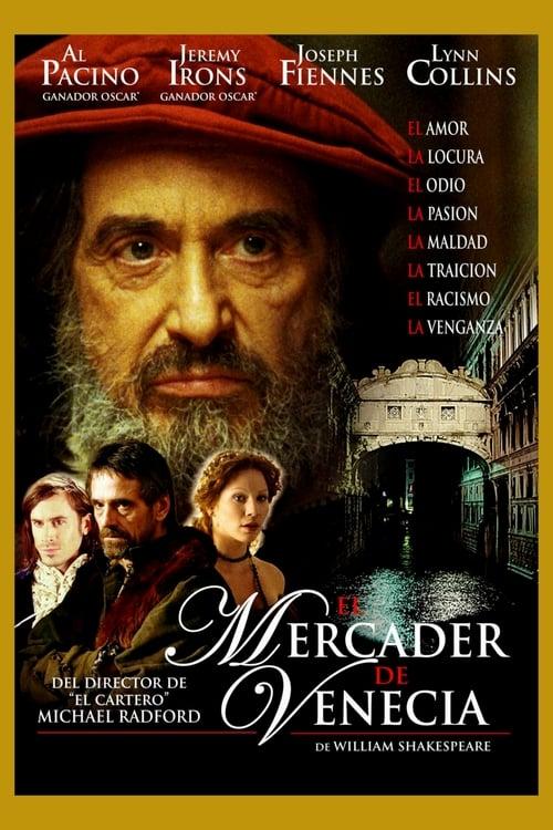 Póster película El mercader de Venecia