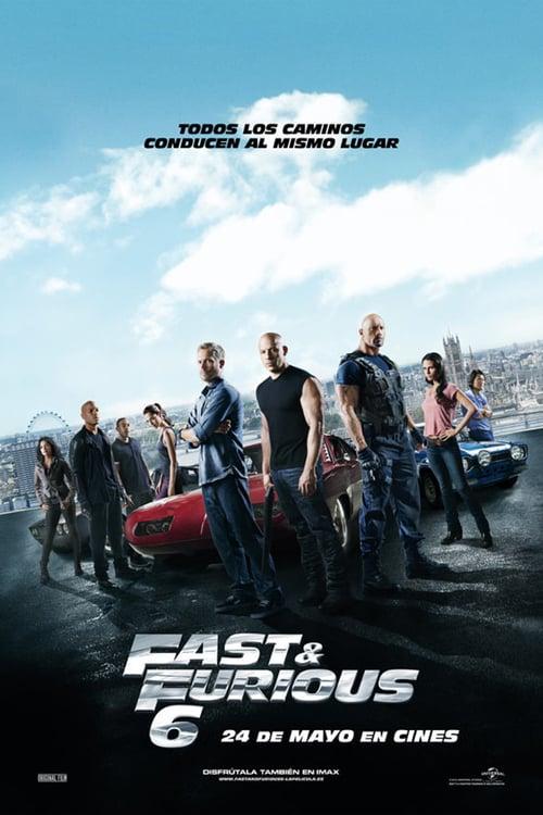 Póster película Fast & Furious 6