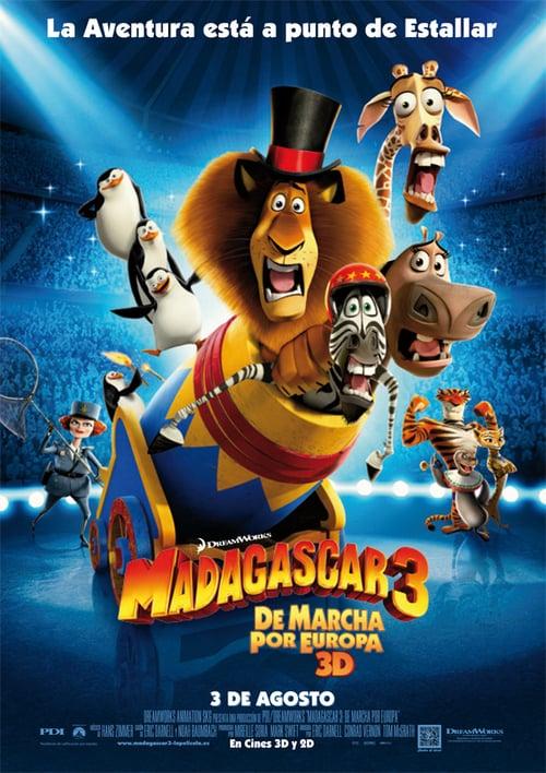 Póster película Madagascar 3: De marcha por Europa