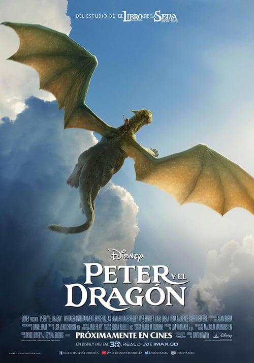 Peter y el dragón poster