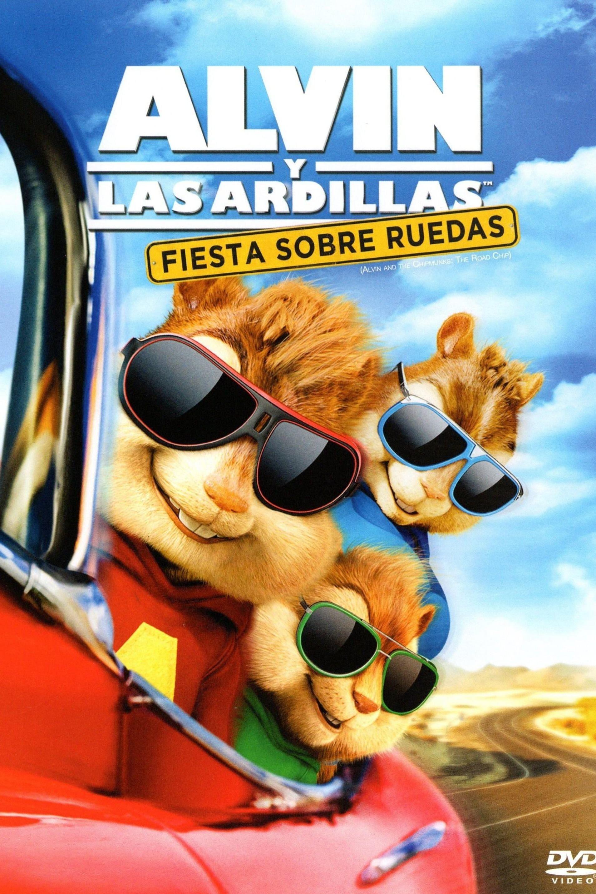 Póster película Alvin y las ardillas: Fiesta sobre ruedas