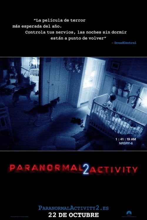 Póster película Paranormal Activity 2