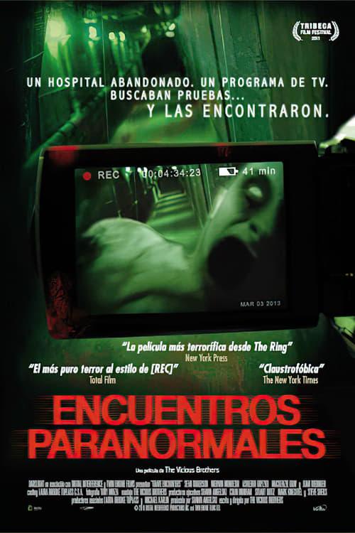 Póster película Encuentros paranormales