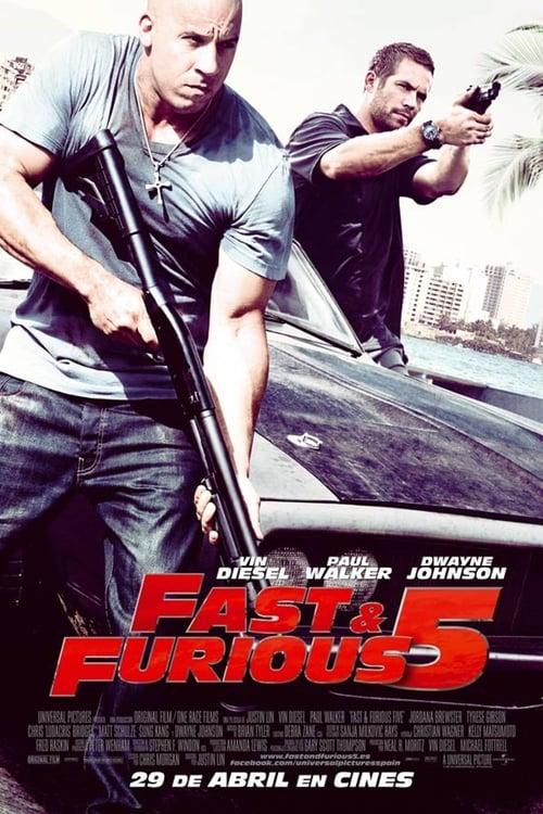 Póster película Fast & Furious 5