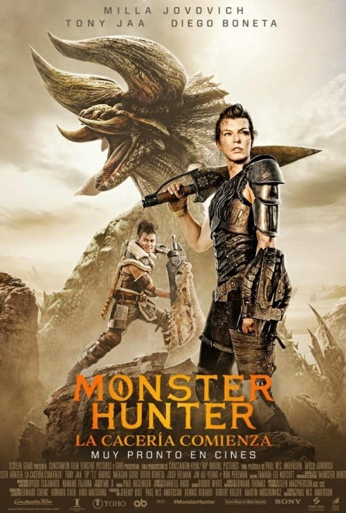 Póster película Monster Hunter