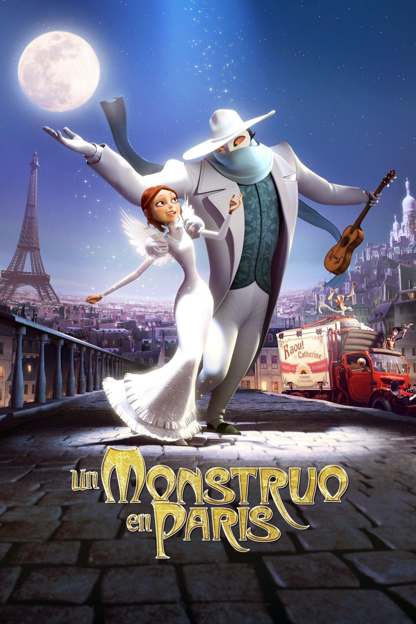 Póster película Un monstruo en París