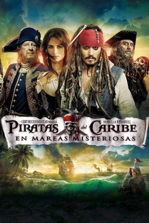 Póster película Piratas del Caribe: En mareas misteriosas