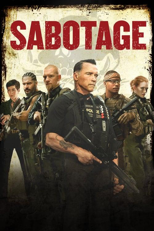 Póster película Sabotage