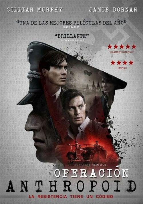 Póster película Operación Anthropoid