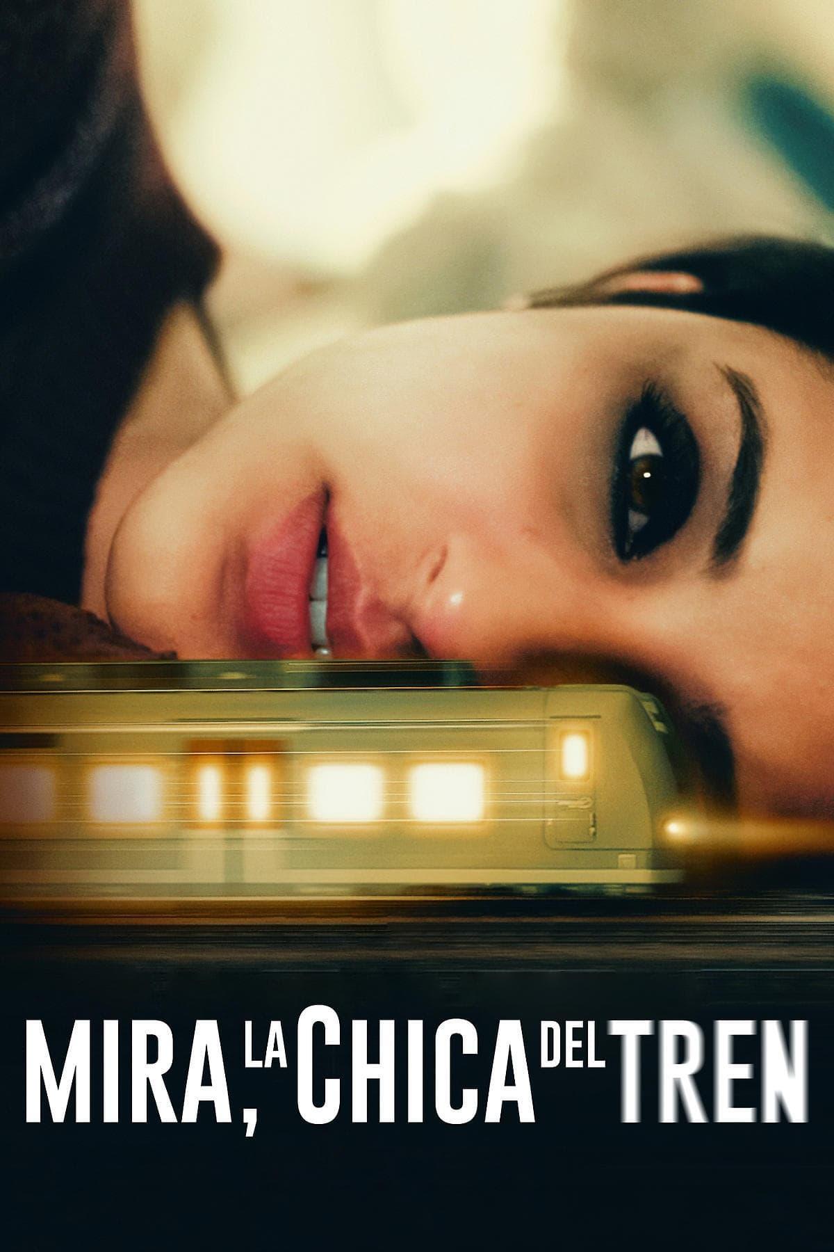 Póster película Mira, la chica del tren