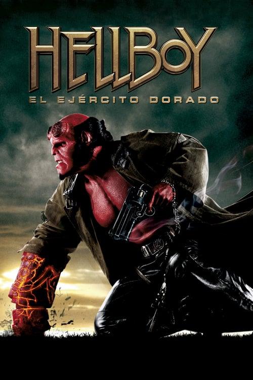 Póster película Hellboy II: El ejército dorado