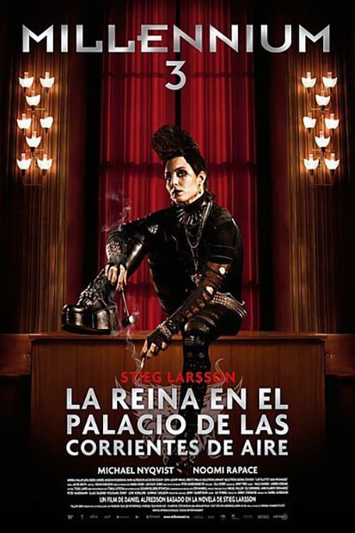 Póster película Millennium 3: La reina en el palacio de las corrientes de aire