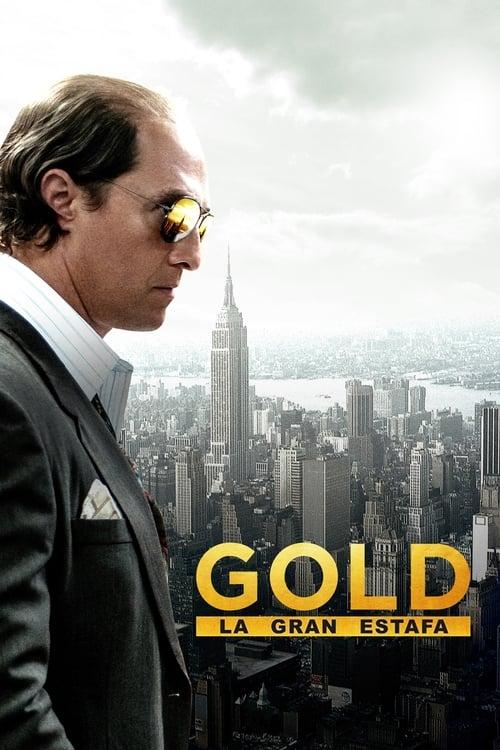 Póster película Gold, la gran estafa
