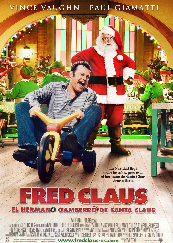Póster película Fred Claus, el hermano gamberro de Santa Claus