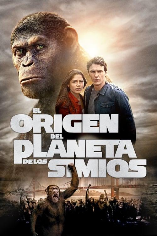 Póster película El origen del planeta de los simios