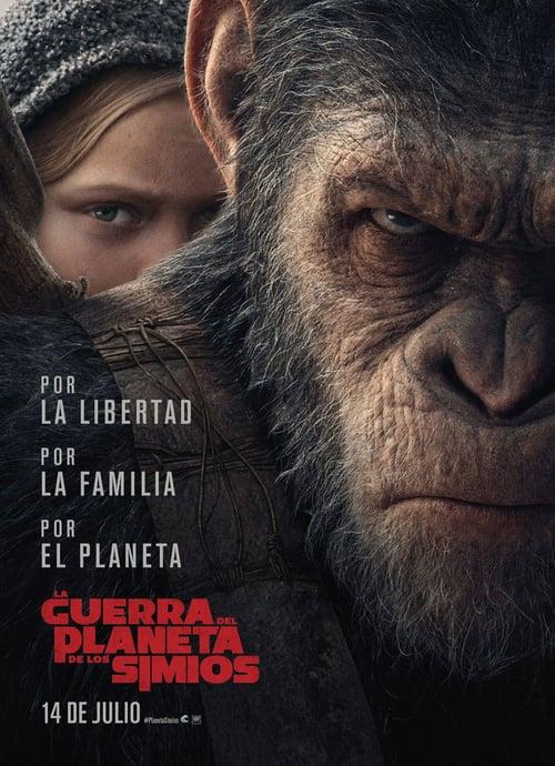 Póster película La guerra del planeta de los simios