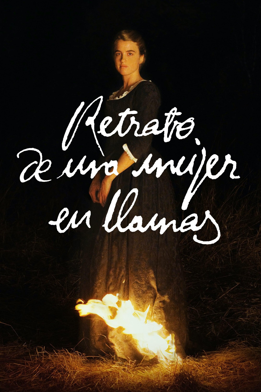 Retrato de una mujer en llamas poster