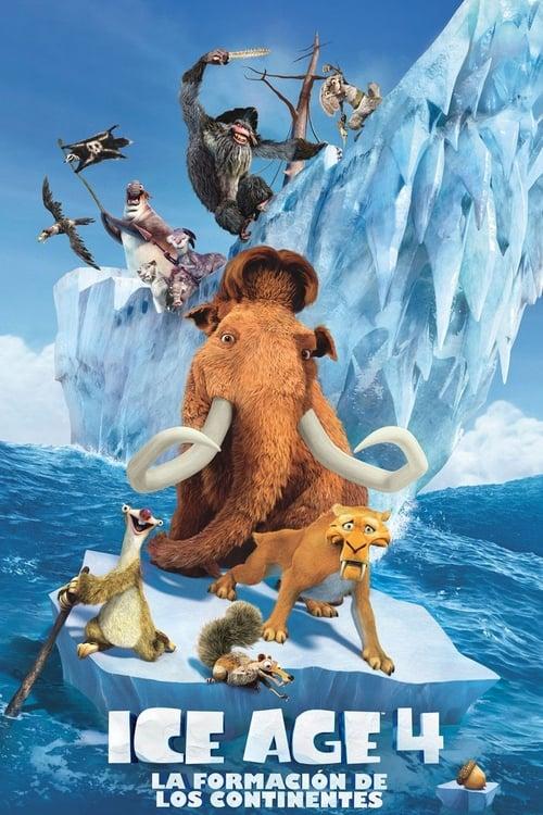 Póster película Ice Age 4: La formación de los continentes
