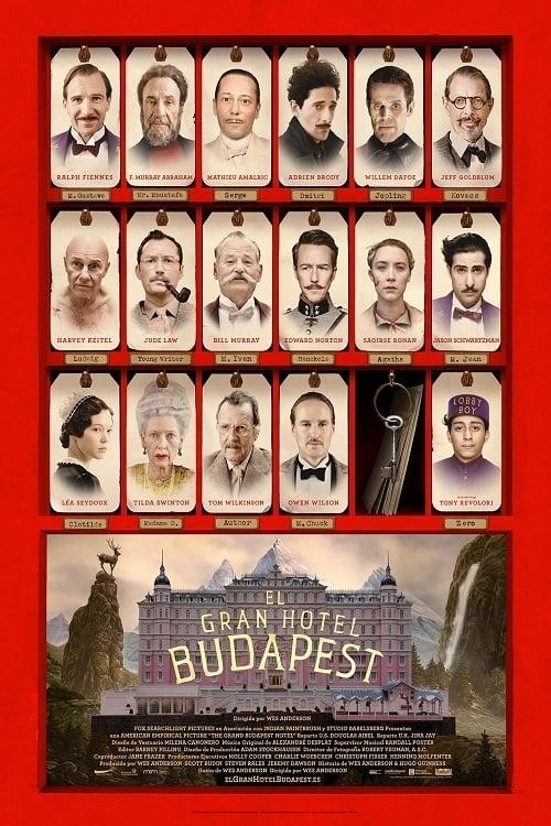El gran hotel Budapest poster