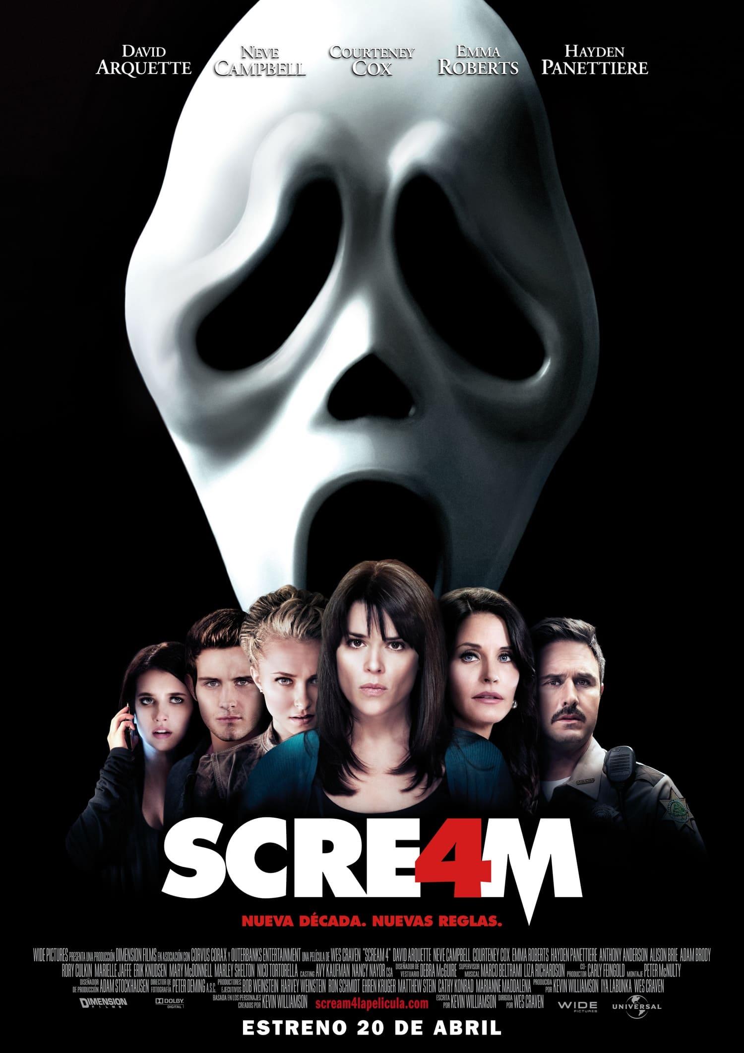 Póster Scream 4