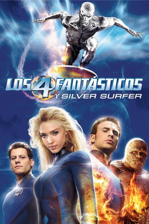 Póster película Los 4 fantásticos y Silver Surfer