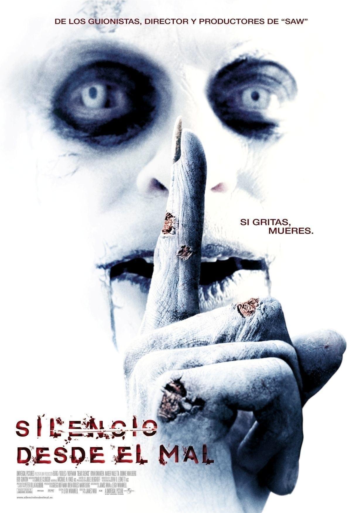 Silencio desde el mal poster