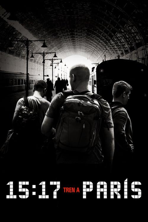 Póster película 15:17 Tren a París