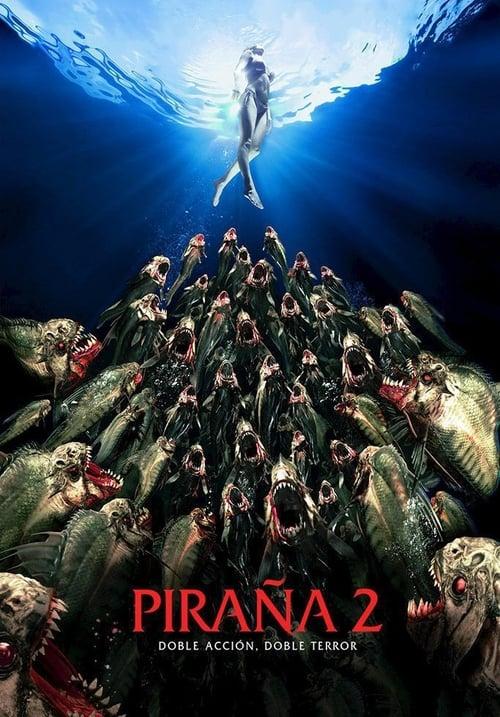 Póster película Piraña 2 (Piranha 3DD)