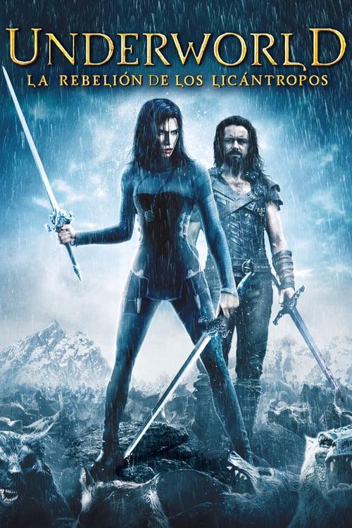 Póster película Underworld: La rebelión de los licántropos
