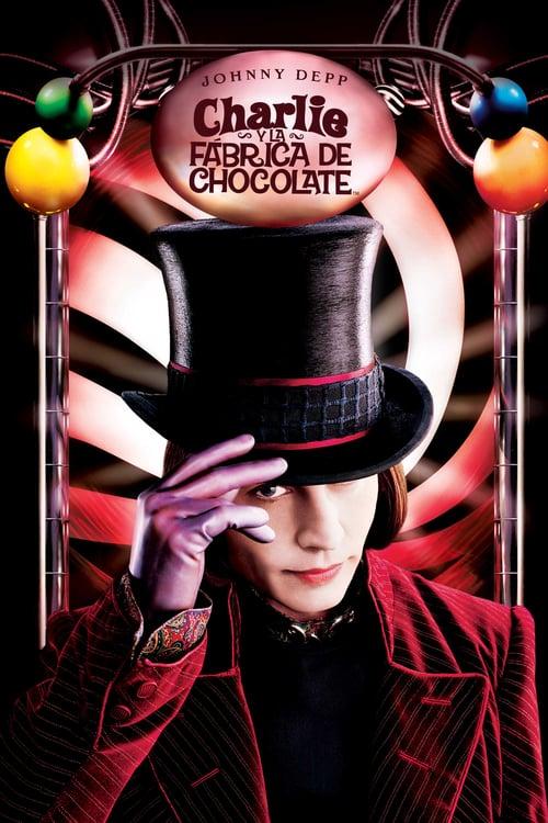 Póster película Charlie y la fábrica de chocolate