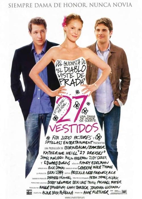 Póster película 27 vestidos