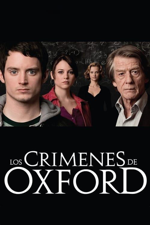 Póster película Los crímenes de Oxford