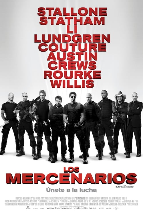 Póster película Los mercenarios