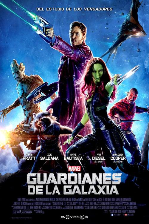 Póster película Guardianes de la galaxia