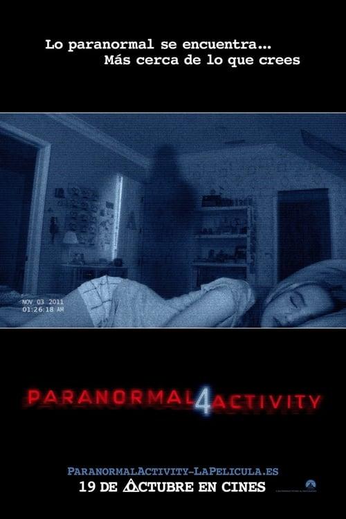 Póster película Paranormal Activity 4