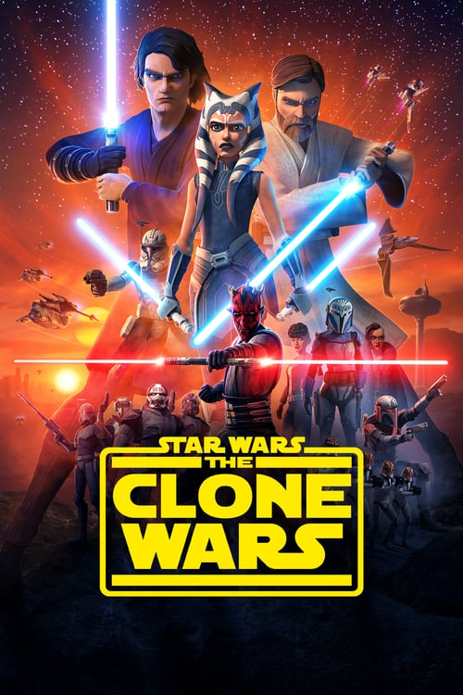 Póster película Star Wars: The Clone Wars